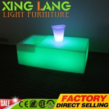 Most Popular Top Quality Outdoor Party plastic RGB color change waterproof luxury plastic poker table