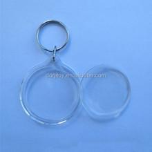 circle key ring photo frame