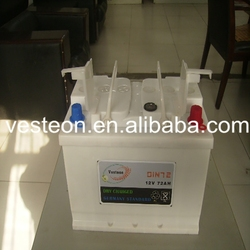 12V dry charged car battery