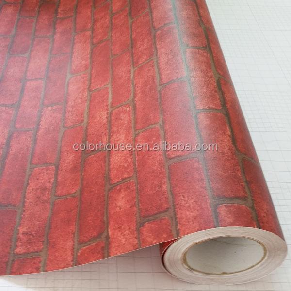 Classique briques vente chaude auto adh sif papier peint for Rouleau de papier adhesif decoratif