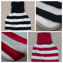 Fashional Strip Soft Knitted Nature Rubber Hot Water Bottle BS1970:2012