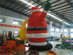Advertising inflatable santa, giant inflatable santa claus