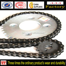 Distributors Chain And Sprocket for motorcycle parts, Unique Design For chain and sprocket with Honda Wave