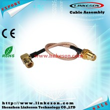 SMA jack to SMB plug right angle RF Pigtail cable RG316 for wifi antenna wireless cable jack