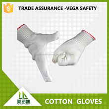 100% pure cotton material gloves