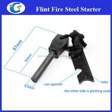 Magnesium Fire Starter Flint Stone Lighter Kit - Black