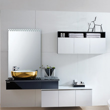 Chinese High End Gloss Painted Tall Modern Bathroom Vanity