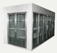 Supermarket glass door display cold room