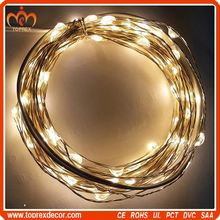 Party Decoration unique 100 LEDs led lights white wire for Christmas