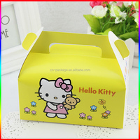 different pattern ice cream cake paper box with clear window