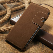 High Quality For Samsung S6 leather Flip case Wallet Stand Cover with PU Leather and Card Slots