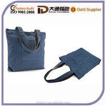 Hot Sale Eco Cotton Bag Shoulder Cotton Bag For Shopping With Front Pockets