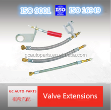 flexible stainless steel tyre valve tire extension
