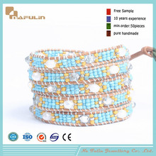 [Nafulin]Indian new products 2015 wedding gifts for guests woven seed bead bracelet