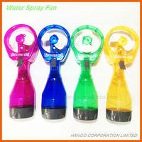 Multi-function Battery Operated Mini Water Mist Spray Bottle Fan