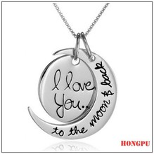 new arrival i love you to the moon and back necklace fashion necklace pendent