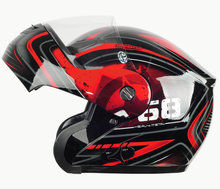 2015 Promotion DOT approved with inner sun visor flip up motorcycle helmet safety double lens racing motos helmet