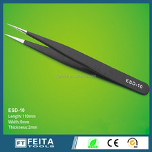 Mobile phone tools high precision ESD stainless steel tweezers from DongGuan suplier