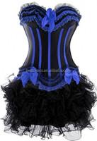 instyles colorful hot sale cheap bustier corset western dress corset+dress