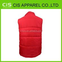 chemical fabric china supplier sleeveless padding jacket