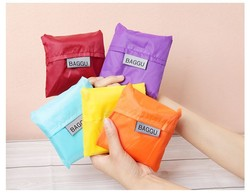 Customed cheap 190T Polyester polyester foldable shopping bag with foldable pouch