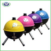 Football florabest barrel bbq charcoal round grill