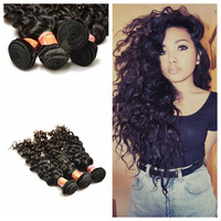 2015 Best selling Double Drawn Wholesale Black Virgin Unprocessed Top Quality Peruvian Hair