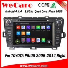 Wecaro Android 4.4.4 car multimedia system quad core for toyota prius android dvd player tv tuner right hand 2009 - 2014
