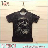 DK013# 2014 Fashion Skull Rock & Wild T-shirts Wholesale Custom Shirts