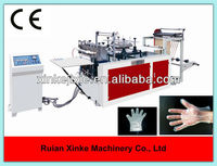Automatic plastic hand gloves making machine