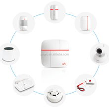 New 2015 Wireless wifi gsm home alarm system include water detector smoke detector Motion sensor