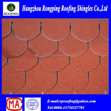 colorful round fiberglass asphalt roofing shingle/building material