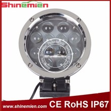 Round 7 inch 60W led offroad working light flood spot off road worklight led spotlight car for Jeep boat truck tractor