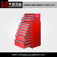 7-Drawers Tool Box with 3 Drawers Tool Trolley with Wheels