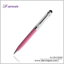 NEW Arrival Promotional White Pearl Crystal Pen Metal Ball Pen Goes with Pendant