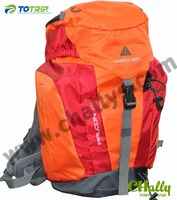 fashion lady orange camping bag