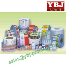 popularity color printing customized machine packaging label sticker