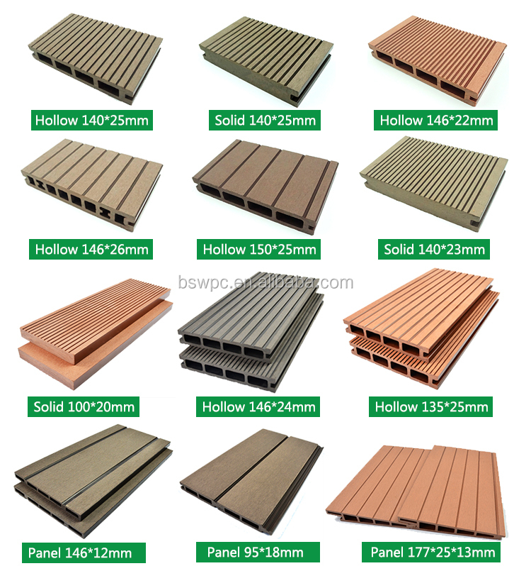 Wood plastic composite deck board wpc decking for balcony for Plastic composite decking