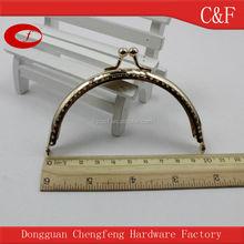10 cm Gold color Metal screw purse frame bag frame handle clip bag hanger