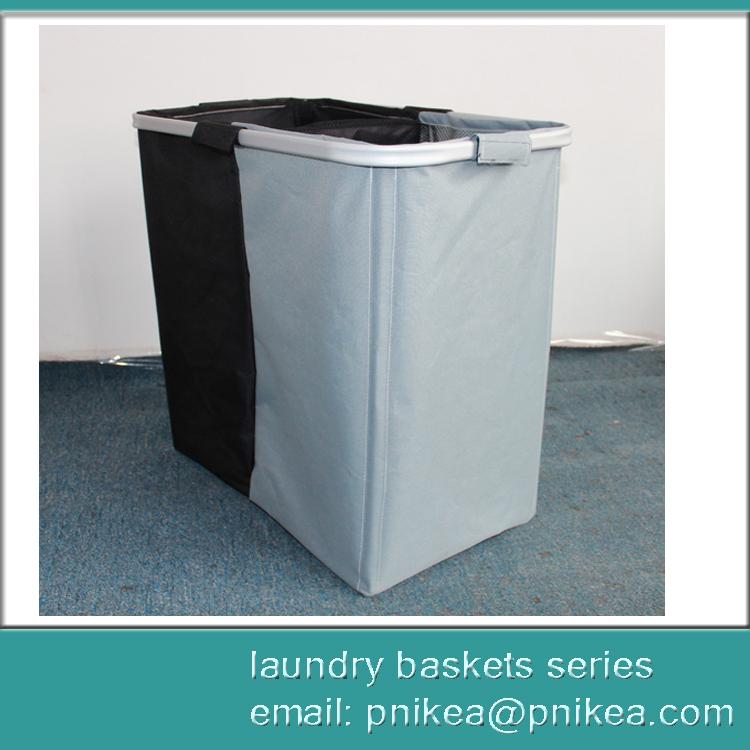 Foldable Hamper Aluminum Laundry Baskets With Mesh Net Cover Buy Foldable Mesh Laundry Basket