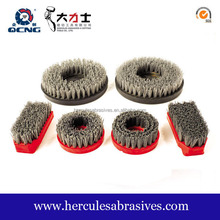 Hot sale diamond abrasive wire grit rotary brushes, disc floor striping polishing brushes