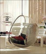 2015 hot sale round hanging acrylic ball chair