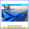 blue pvc cover with rings for 20ft&40ft container