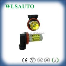 80W LED Fog Light Car Bulb H4 H8 HB3 HB4 PSX24 PSX26 Yellow Ambar Color 3000K DC 12V 24V