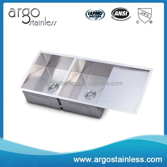 China Supplier 304 Ss Double Kitchen Sink With Drainboard Buy Double