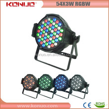 Constant Current PCB 54pcs 3w rgbw led par light stage for choral