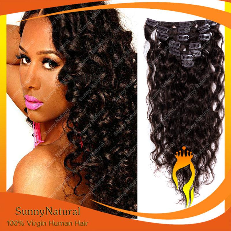 alibaba en gros longs boucl s vierge br silienne cheveux clip en extensions de cheveux pour afro. Black Bedroom Furniture Sets. Home Design Ideas