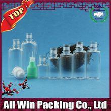 2015 new clear round plastic packaging new pet ejuice liquid eliquid drops bottle caps