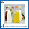 Hot sale 1L Glass Milk Bottle with clip and ceramic lid