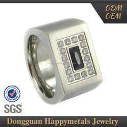 Low Cost With Custom Engraved Logo Heart Crystal Ring